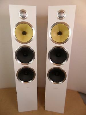 B&W CM9 S2 Loudspeakers in white -excellent, boxed