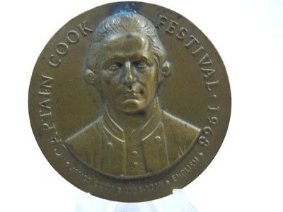 Captain Cook Festival Discovery of Hawaii 1968 Bronze Medal Medallic Art