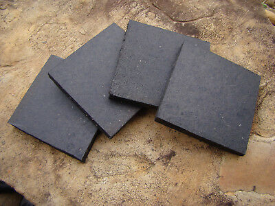 AIR COMPRESSOR MOUNTING PADS 4 X 4 X 1/2 ANTI VIBRATION RUBBER PADS Set of 4