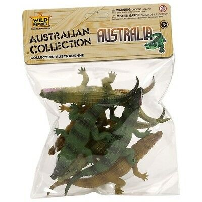 Polybag Australia Crocodile Collection of Figures Kids Toy Pretend Project