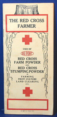 Old Vintage 1916 Red Cross Farmers Farm & Stumping Powder 32 Page Catalog Book.