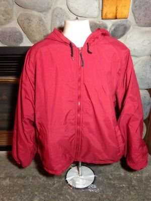 Vtg Woolrich Red Jacket Nylon Insulated Men's X-Large Hunting Outdoor Stadium