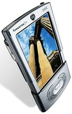 PALM Tungsten T3 Handheld PDA with USB charger cable and stylus.
