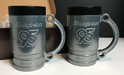 Snap-On Collectible Mugs; 95th Anniversary Limited Edition Flankard Set; w/ box