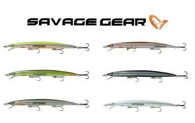 "3//4 oz Suspending 7/"" Savage Gear SJM-175-BR Sandeel Jerk Minnow"