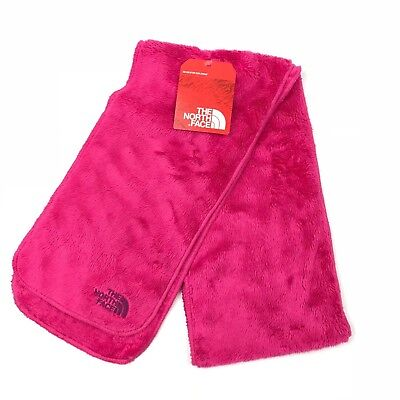 The North Face girls Danali scarf fuzzy faux fur cabaret hot pink one size NEW
