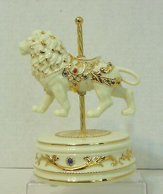 San Francisco Music Box Company Rare Carousel Lion Plays Unchained Melody