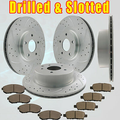 Front Rear Brake Rotors and Ceramic Pads 2010 2011 2012 2013 370Z  Touring 3.7L