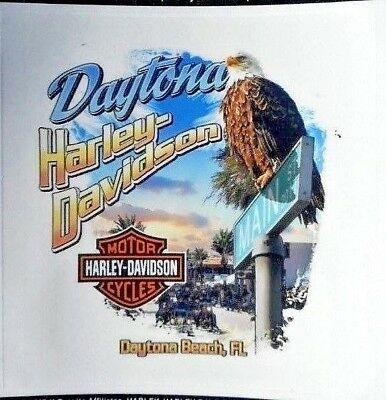 Daytona Beach Main Street Harley Davidson Decal Sticker New