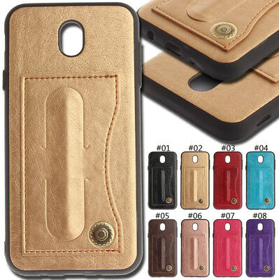 For Samsung Galaxy J5(2017)EU Version Card Slot PU Leather Skin Cover Stand Case