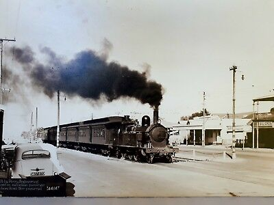 SAR Print of Class F 4-6-2T #255 travelling along Semaphore Road September 1955