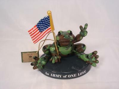 Peace Frogs Ceramic Figurine 18808 Army Of One Love Westland Giftware