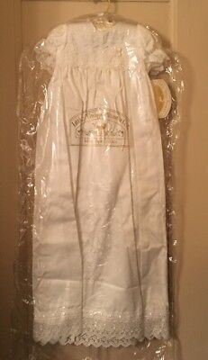 Little Things Mean Alot Girls Christening Dress & Bonnet New w/Tags Size 12 Mos