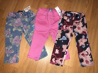 Lot of 3 Toddler Girl Jeans Pants  - Size 12-18 Months - NEW w/ Tags!!