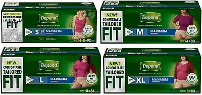 Depend FIT-FLEX Max Absorbency Underwear~ for Men & Women with Various Size