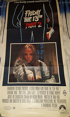 FRIDAY THE 13TH PART 2 Australian Daybill Movie Poster