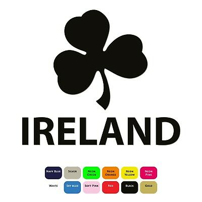 Ireland Shamrock Iron On T Shirt Heat Transfer Vinyl HTV Sticker 12 Colours