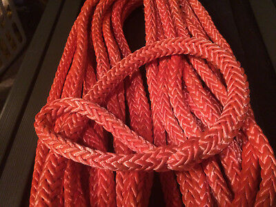 "72' of 5/8"" Orange Tenex-TEC With Eye Splice 12 Strand Polyester Samson Rope"