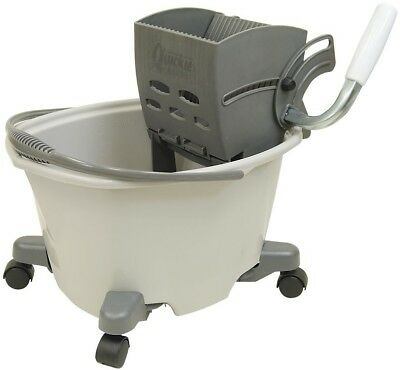 Quickie 5-Gallon Commercial Mop Wringer Cleaning Floor Bucket With Wheels