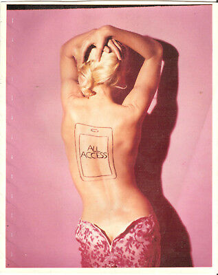 VINTAGE NUDE 10x8 ORIGINAL PHOTO ~ ALL ACCESS ~ PRETTY IN PINK