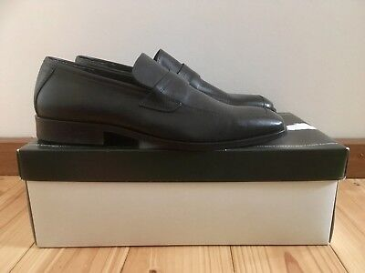 Men's black leather loafers; German brand 'Excellent' - Size 7.5 / 41 - NWT