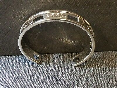 Authentic Tiffany & Co. T&Co 1837 Sterling Silver 925 1837 Cuff Bangle Bracelet