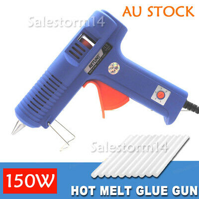 150W Glue Gun Electric Heating Craft Hot Melt Scrapbook With 10 Glue Sticks NEW