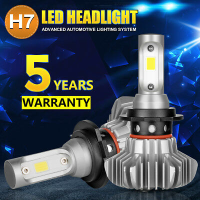 All-In-One H7 COB LED Headlight Bulbs Kit 162000LM 1080W Low Beam High 6500K 2PC