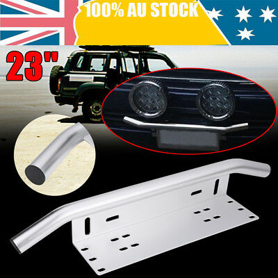 License Plate Bracket - Bull Bar Front Bumper LED Light Bar Mount Holder Offroad