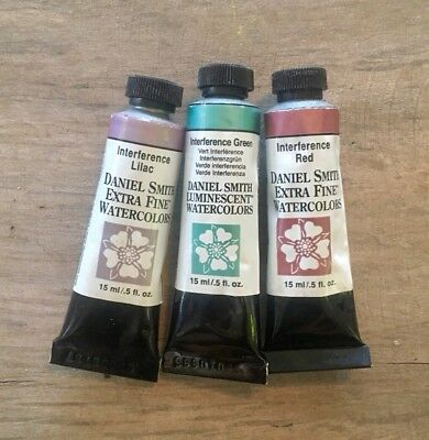 DANIEL SMITH Professional Watercolours 6 x INTERFERENCE Luminescent Collection