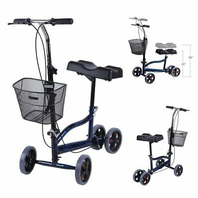 Foldable Steerable Knee Walker Scooter Turning Brake Basket Cart FDA Approved MA