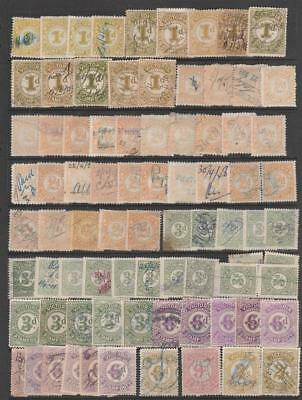 COLLECTION VICTORIA NUMERAL 1d to 2 Sh STAMP DUTY REVENUE AUSTRALIA STATES