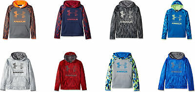 Under Armour Boys' Armour Fleece Printed Big Logo Hoodie, 8 Colors
