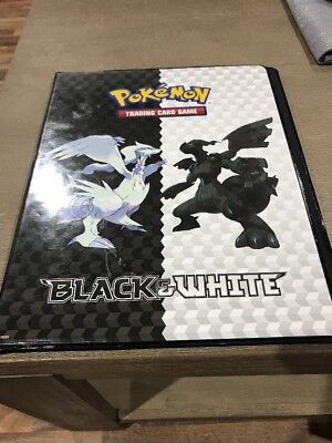 Pokémon Black and White Card Album 90 Sleeve 9 Page Used TCG Folder Pikachu