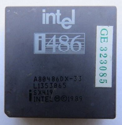 Vintage Intel i486 CPU A80486DX-33 (SX419)