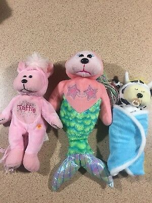 3 Beanie Kids- Limited Edition Boxed Mermaid + 2 Other Beanie Kids