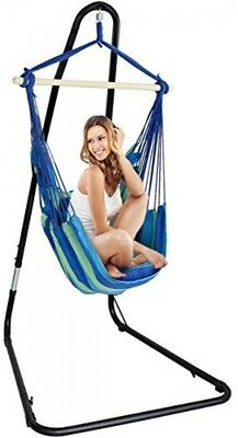 Max 2 Seat Cushions Included 265 Lbs SueSport Blue Hanging Rope Hammock Chair Porch Swing Seat Sky Chair with Cushions for Any Indoor or Outdoor Spaces
