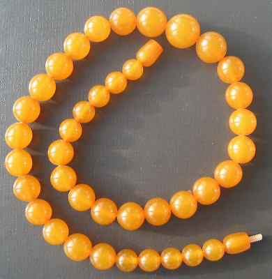 Vintage Pressed Baltic Amber Womens Beads Honey Necklace