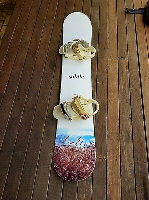 Subtle Snowboard with Bindings and Carry Case