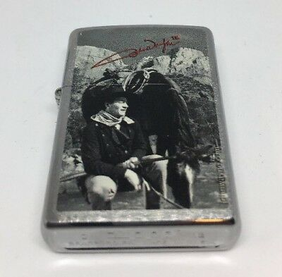 🇺🇸RARE Zippo John Wayne The Duke💨🔥WindProof Lighter Collectors Collection