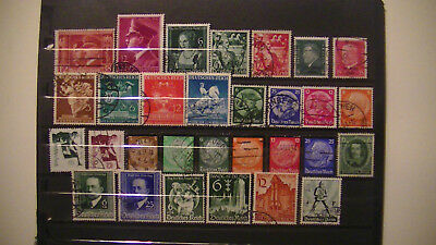 Germany: Nazi Era Lot.all Diff.used.cpl Sets Incl. $$$$$$$$$$$ H/v.
