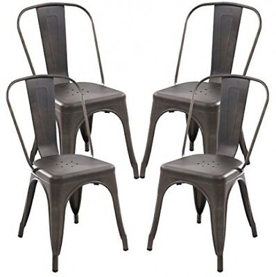Terrific Poly And Bark Trattoria Side Chair In Bronze Set Of 4 Bralicious Painted Fabric Chair Ideas Braliciousco