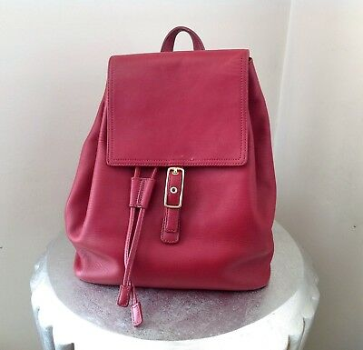Coach G23-9827 Vintage Classic Red Retro Legacy Women Drawstring Backpack Purse