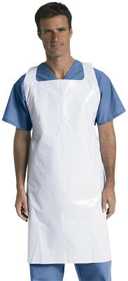 """Medline Midweight Polyethylene Disposable Aprons, 28""""x48"""", 250 pack - NON24274W"""