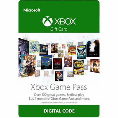 Xbox One 1 Month Game Pass Trial Subscription Digital Code Key