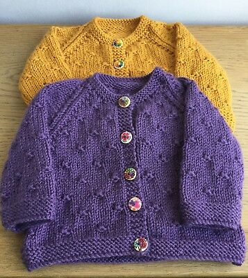 CUSTOMER ORDER 2 Hand Knitted Cardigans