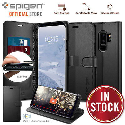 Galaxy S9 Plus case, Genuine SPIGEN Stand Flip View Wallet S Cover for Samsung