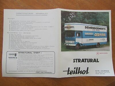 Ancienne Brochure Teilhol Camion Mercedes Demenagements Germain Aubenas Le Teil