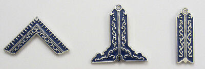 Masonic Principal Officer Jewels set of three 3 Lapel Pin Mason Freemason