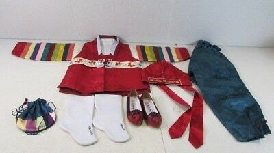 KOREAN Traditional Silk COMPLETE Child's Outfit BOXED Vintage Size 4 Costume